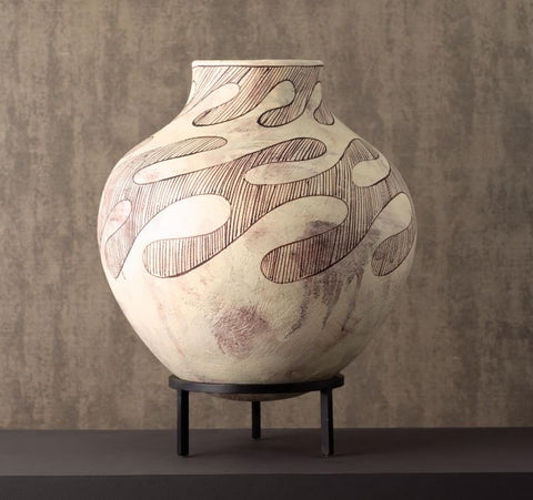 Anasazi Vessel On Stand-Antique - Global Views