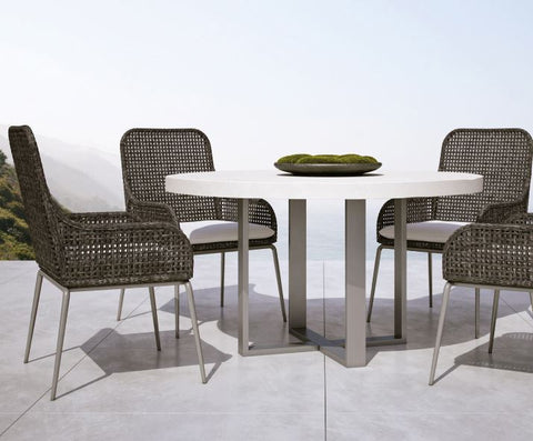 Antilles Wicker Arm Chair - Bernhardt Exteriors