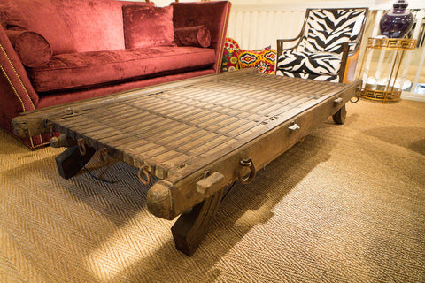 Antique Camel Cart Table - Studio A