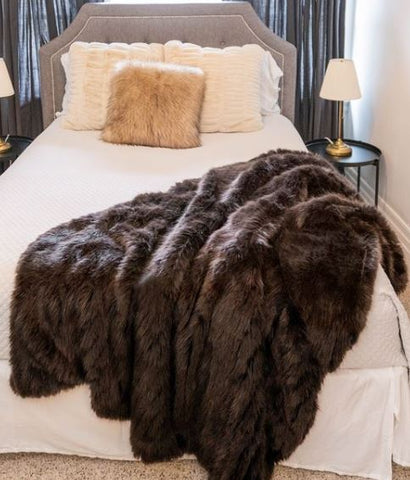 Espresso Apres Mink Throw - Fabulous Furs