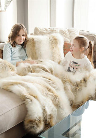 Arctic Fox Limited Edition Faux Fur Throw - Fabulous Furs