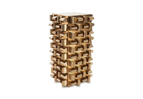 Arete End Table Polished Brass - Phillips Collection