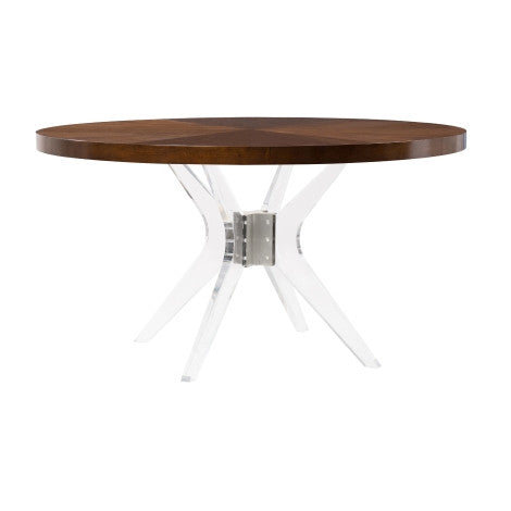 Ariel Wood Top Dining Table - Belle Meade Signature