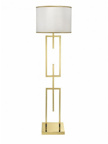 Arma floor lamp polished brass jamie young
