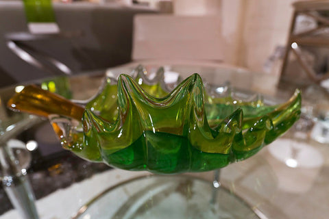 Art Glass Leaf Bowl - Global Views