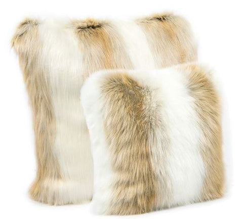 Arctic Fox Faux Fur Pillow - Fabulous Furs