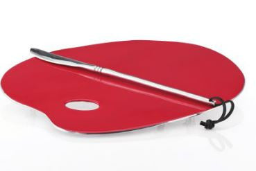 Artist Palette Cheese Serving Set Crimson - Nima Oberoi-Lunares