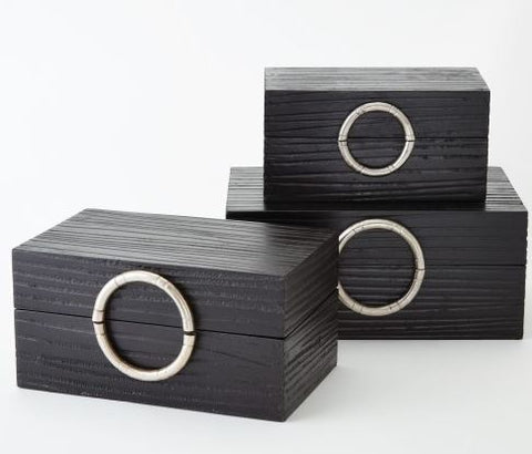 Artisan Jewelry Box-Black/Nickel - Global Views