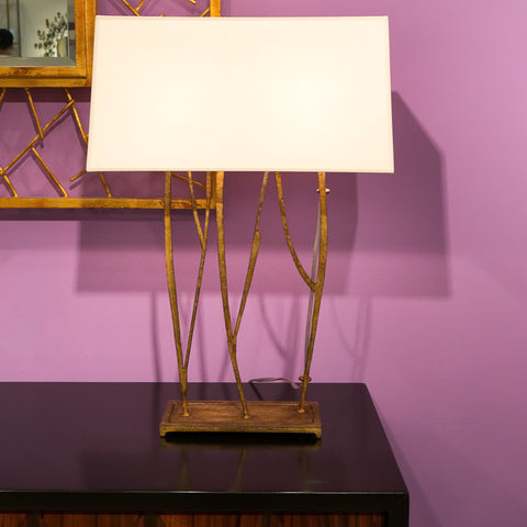 Aspen Console Gilded Lamp - Visual Comfort