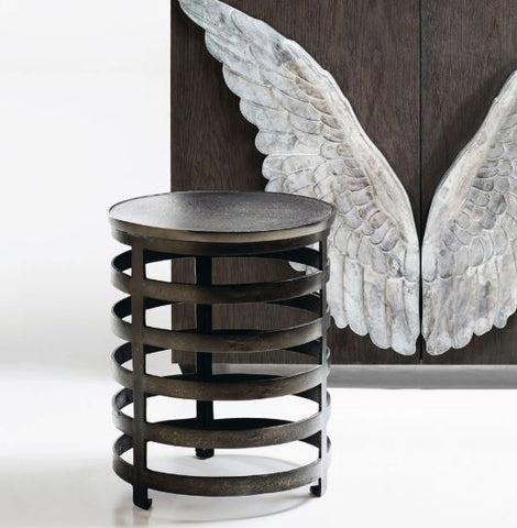 Apsley Round Chairside Table - Bernhardt Interiors