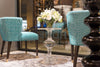Aubrey Round Chair Side Table at Luxe Home - Bernhardt Furniture