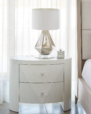 Axiom Oval Nightstand - Bernhardt Furniture