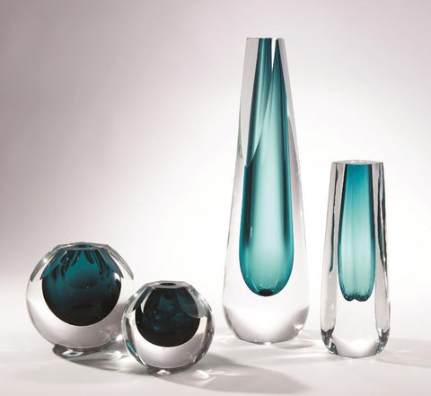 Cut Glass Vases - Global Views