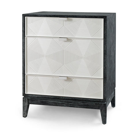 Borneo 3-Drawer Side Table, Black - Bungalow 5
