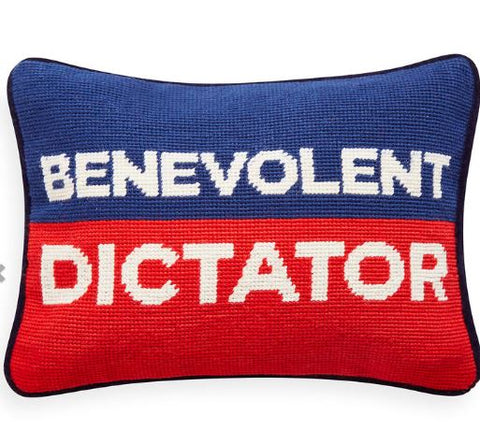 Benevolent Dictator Pillow - Jonathan Adler