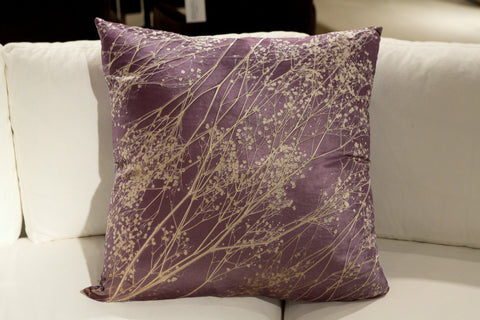 Baby's Breath On Violet Pillow - Aviva Stanoff Design