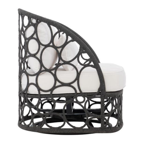 Bali Woven Rope Swivel Chair - Bernhardt Exteriors