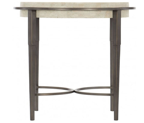 Barclay Metal Round Chairside Table - Bernhardt Furniture