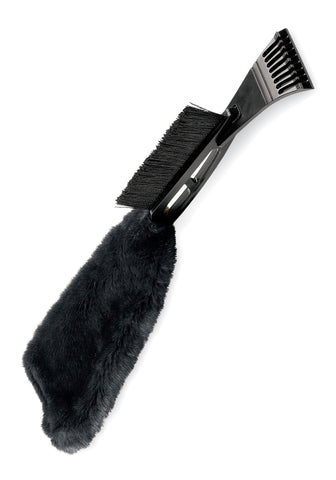 Black Fox Fur Ice Scraper - Fabulous Furs