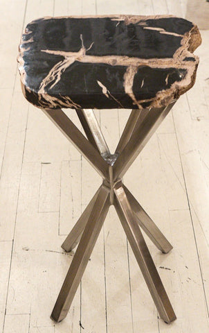 Black Petrified Wood Table - Bernhardt Interiors