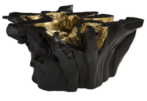 Freeform Coffee Table Black, Gold Leaf - Phillips Collection