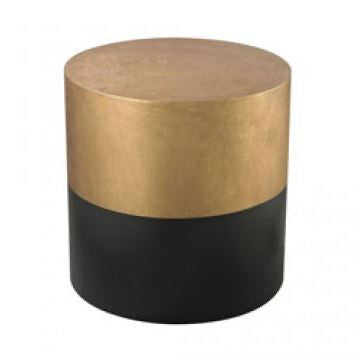 Black/Gold Draper Drum Table - Dimond Home
