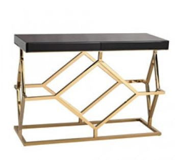 Black and Gold Deco Console - Dimond Home