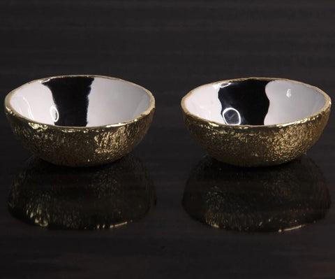 Bianco Nero Salt & Pepper Set - Lunares