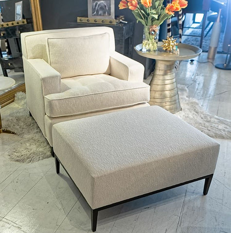 Rosenau Upholstered Ottoman - Bolier & Co.