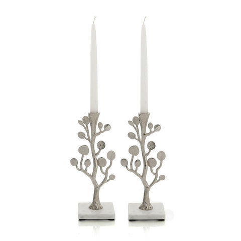 Botanical Leaf Candle holder Set of 2 - Michael Aram