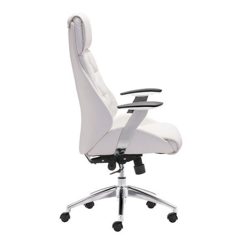 Boutique Office Chair White - Zuo Modern