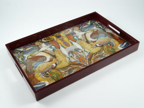 Birds Inlay Breakfast Tray - Pacific Connections