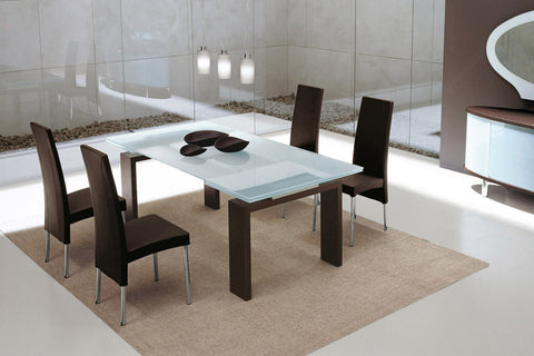 Brooklyn Extending Dining Table With Leather Base - Tonin Casa