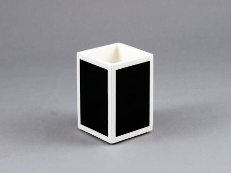 Brush Holder Black with White Trim - Pacific Connections