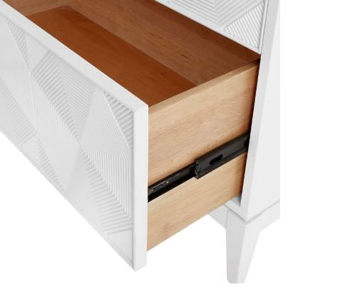 Borneo Extra Large 4-Drawer Dresser, White - Bungalow 5