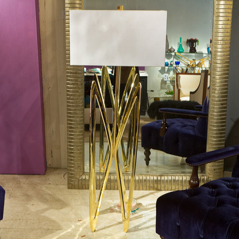 Butterfly Floor Lamp Brass - Phillips Collection