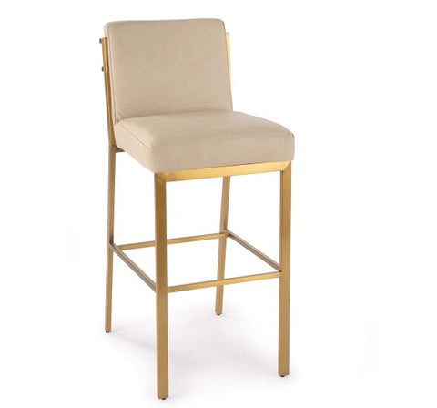 Chantal Leather Bar Stool - Regina Andrew