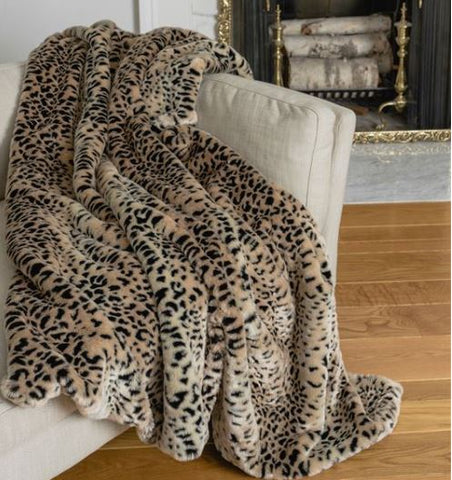 Signature Series Throw: Ghost Leopard - Fabulous Furs at Luxe Home PA in Gladwyne