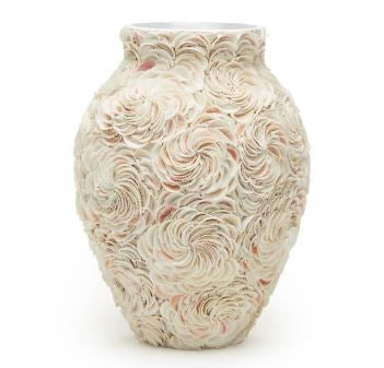 Shingles Natural Shell Vase - Two's Company