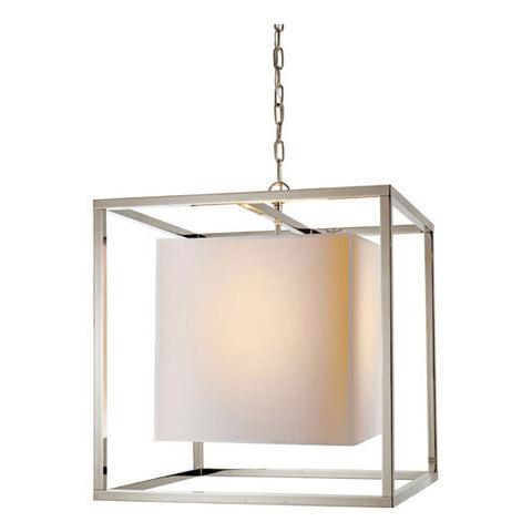 Caged Medium Lantern - Visual Comfort