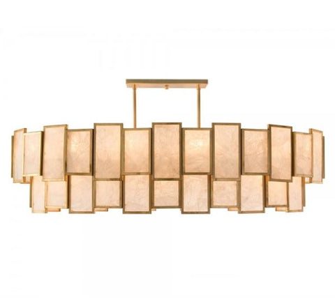 Calcite Panel Twenty-Light Pendant - John-Richard