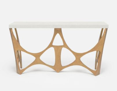 Calloway Console, Natural Clamshell - Made Goods