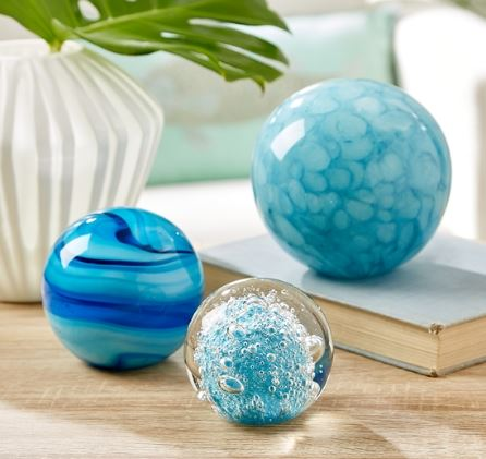 Capri Spheres Paperweights (S/3) - Two's Company