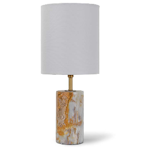 Jade and Brass Mini Cylinder Lamp - Regina Andrew Design