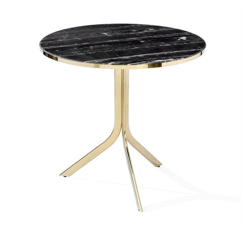 Carina Bistro Table, Brass - Interlude Home