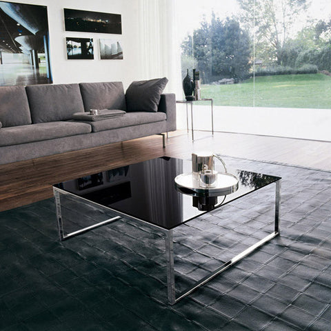 Central Coffee Table, Chrome/Black - Tonin Casa