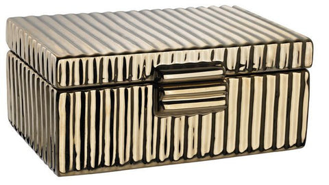 Ceramic Golden Jewelry Box - Dimond Home