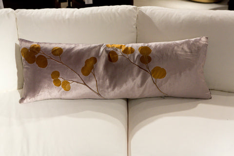 Champagne Eucalyptus On Cobble Pillow - Aviva Stanoff Design