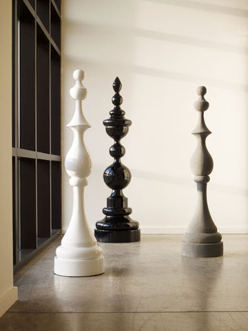 Check Mate Sculpture, White - Phillips Collection