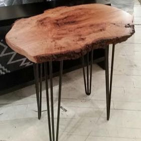 Cherry Burl Side Table - Wood Shop
